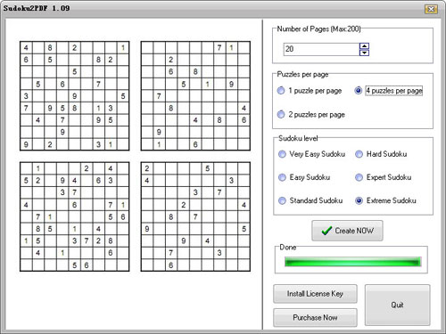Click to view Sudoku2pdf 2.2 screenshot