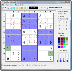 Sudoku 9981 - Click for fullscreen
